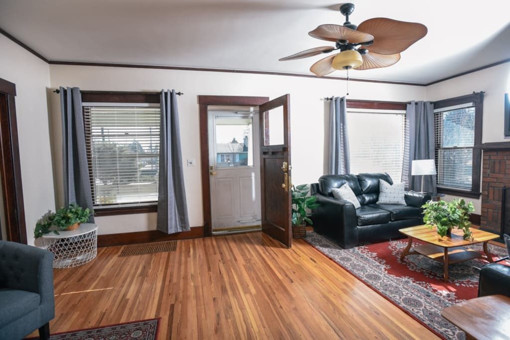 Original floors and huge windows welcome you to this newly updated historic home.