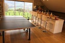 Bar et ping-pong