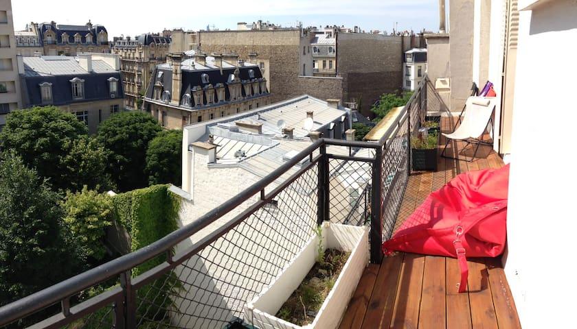 sunny rooftop studio