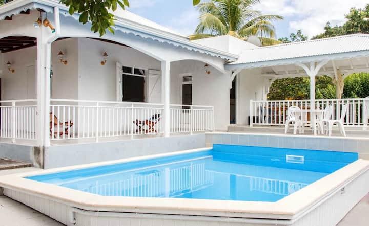 Villa mit 3 Schlafzimmern in Capesterre Belle Eau mit herrlichem Meerblick, privatem Pool, möbliertem Garten - 10 km vom Strand entfernt