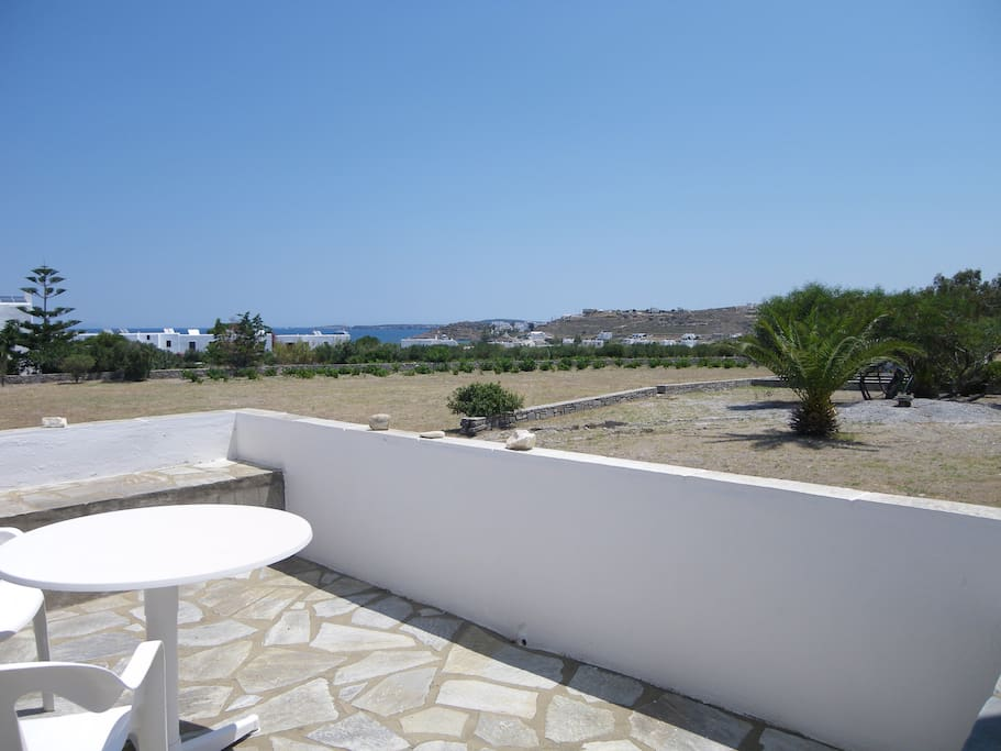 private terrace(facing east) with sea & garden view