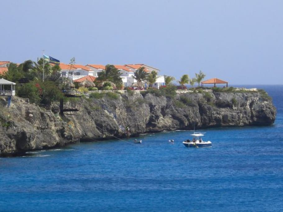 The resort viewed from the sea