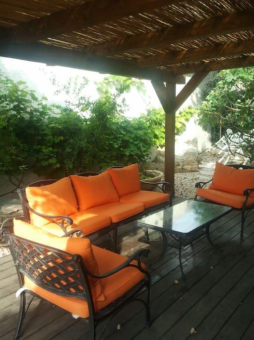 The deck patio at the garden