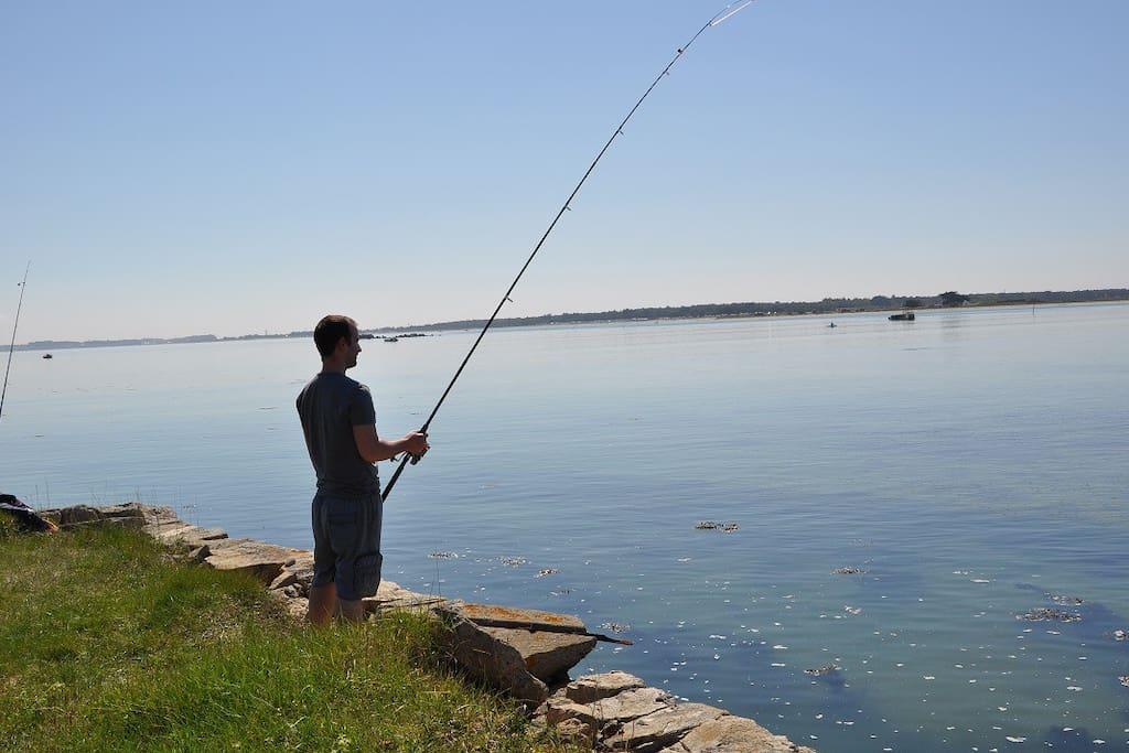 pêchez de la propriété