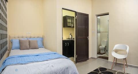 Smart studio apartment with modern furnishing