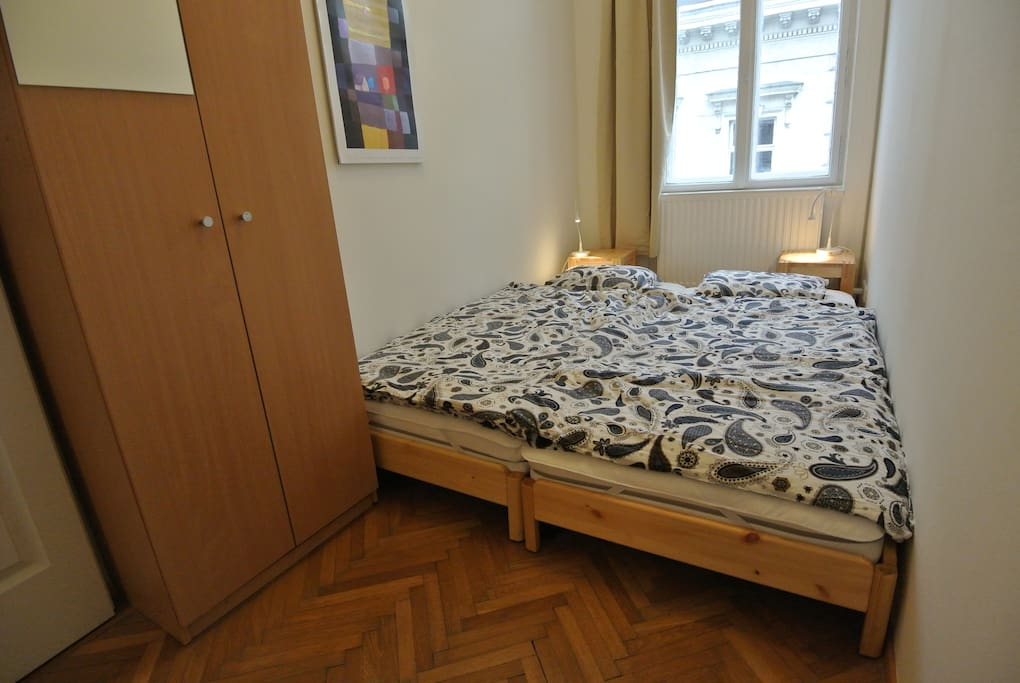 Bedroom with 2 Beds and Cupboard