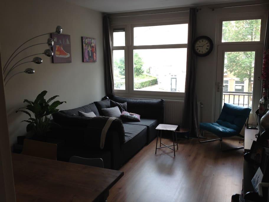 Living with spacious and comfortable sofa