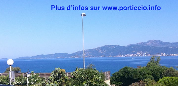 panoramic sea view,beach 30m, wifi for 6people