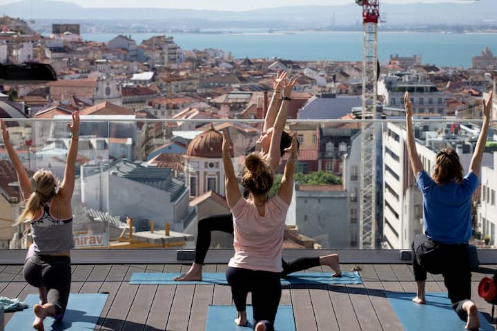 Yoga with a great view