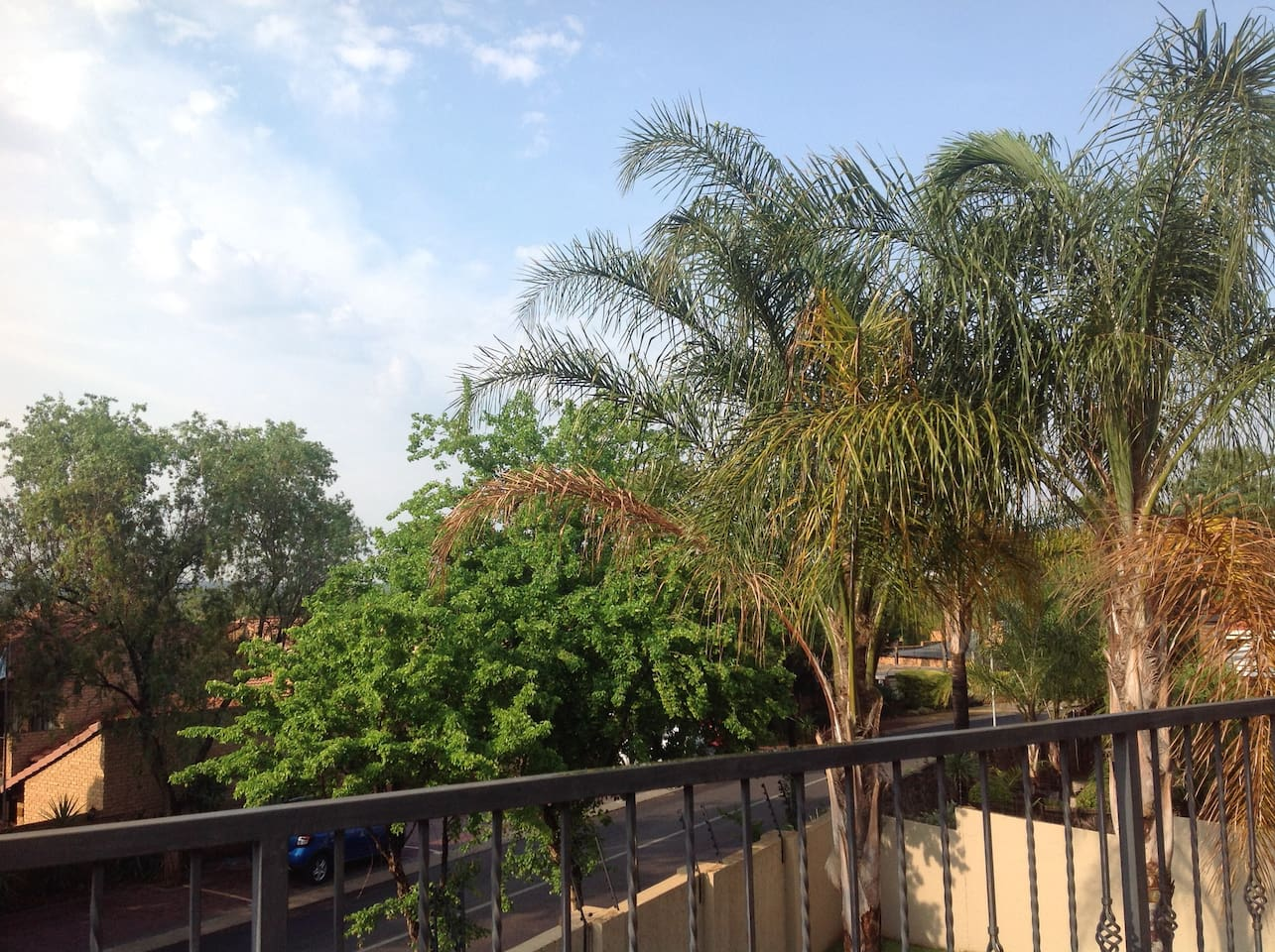 View from balcony of house