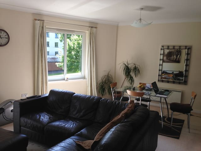 Cardiff Bay large double room, gated parking