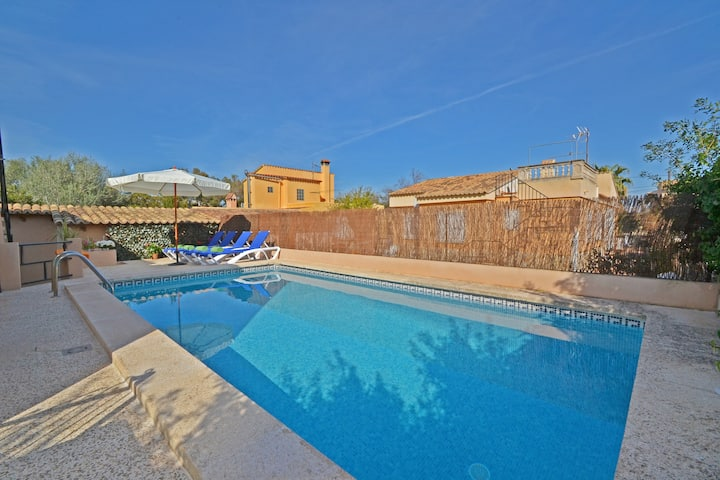 "Holiday Home ""Villa Bienestar"" with Mountain View, Pool, Garden, Terraces & WiFi; Parking Available"