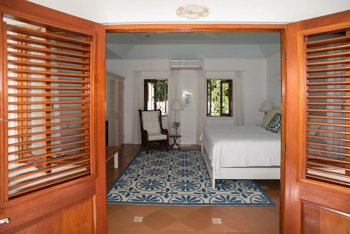 "The ""Hibiscus"" bedroom."