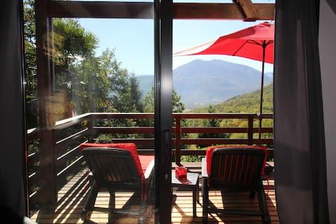 Chalet rénové propriété privative face Pyrénées