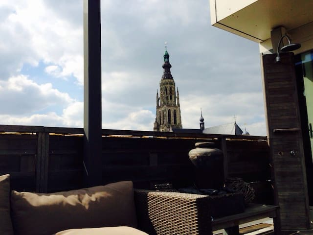 Luxury penthouse, right in the centre, great view! - Breda