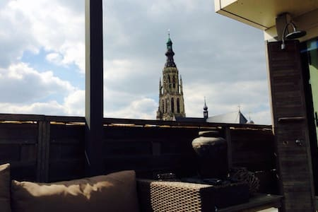 Luxury penthouse, right in the centre, great view! - Breda - Apartment