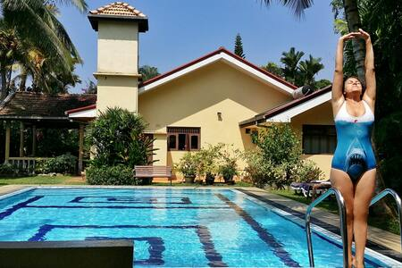 The Lodge. Quiet location with pool - Beruwala