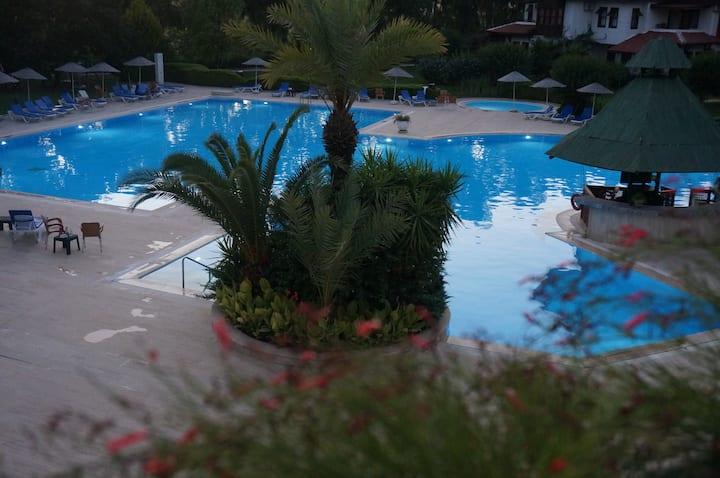 сад 5 гектаров и огромный бассейн