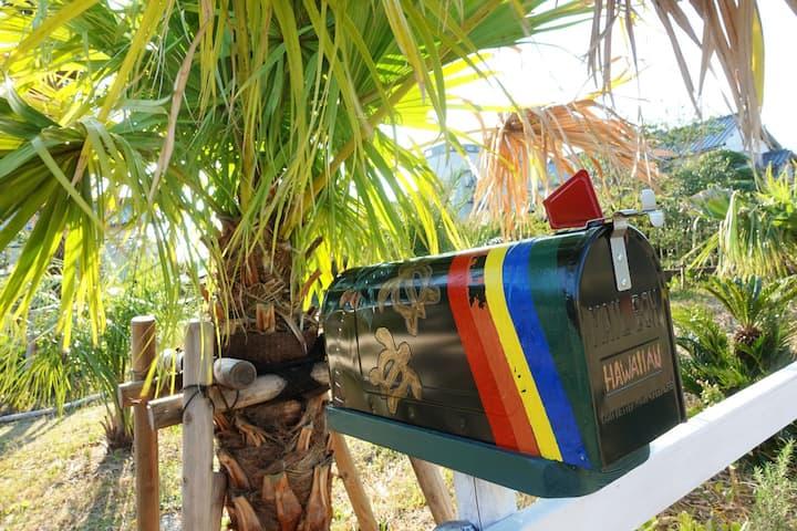 06★②ハワイアンコテージヴィラ白子/屋根付きコテージテラスで雨でもBBQ OK◎2人