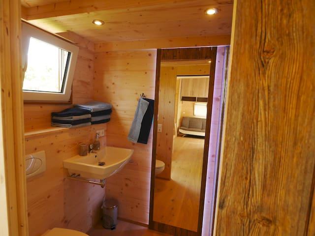 Badezimmer, Tiny House II, Biolandhof Bodensee