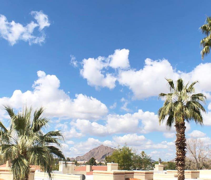 Amazing Views of Camelback Mountain from Guest Suite Patio