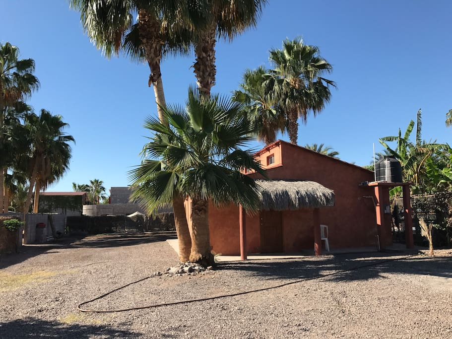 Our casita sits on a huge lot. RV and boat parking in a very secured fenced lot.