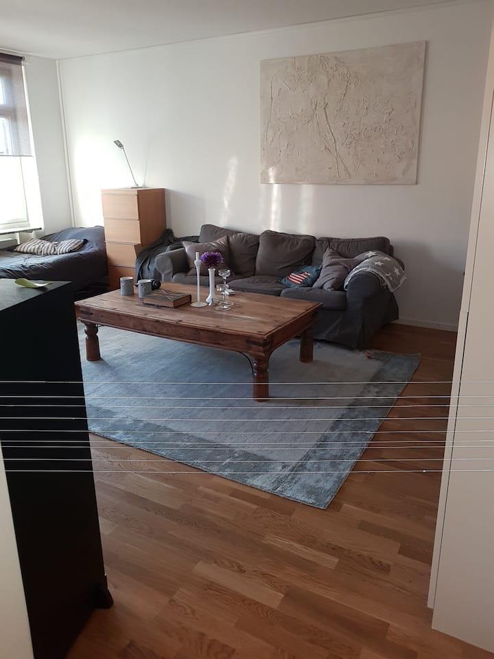 Sovrum med tillgång till hela lägenheten vid behov