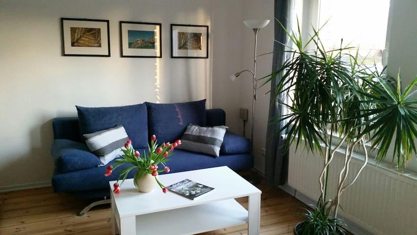 Die blaue Wohnung auf Hof Heideland - Heideland - Apartamento