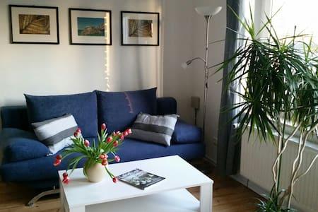 Die blaue Wohnung auf Hof Heideland - Heideland - Apartament
