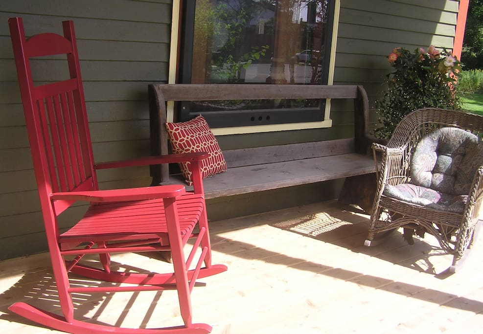 A restful spot on the front verandah