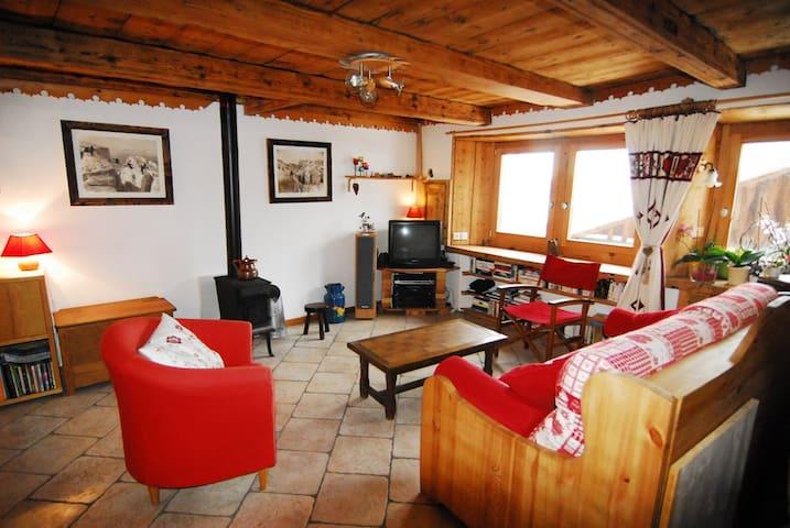 Appartement dans ferme rénovée - Brizon - Lägenhet