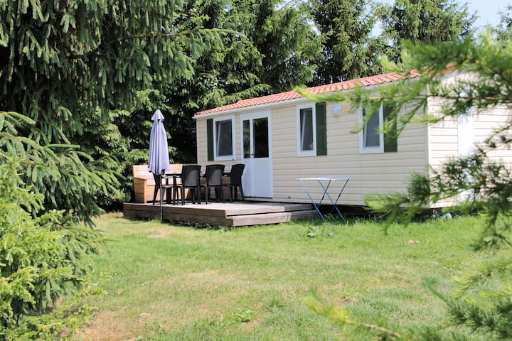Snug Mobile Home in Januv Dul Bohemian with Pool