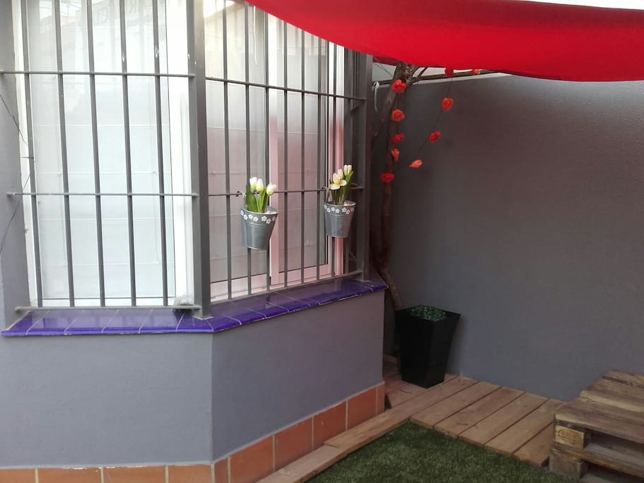 Chill out con luz ambiente floral...solar...