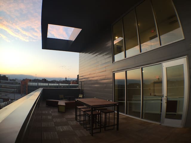 Gorgeous Views From Community Terrace