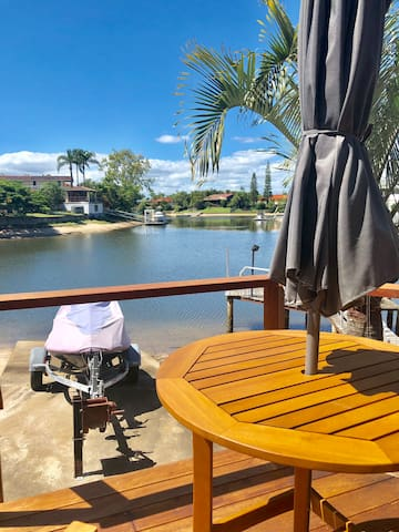 waterfront unit  with jetty and own sandy beach