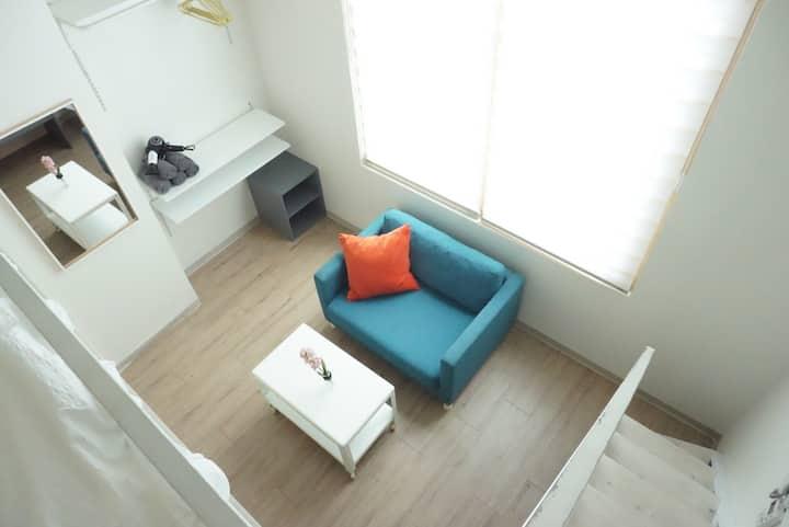 2min Hongik uinv. stn Duplex Studio+FreeWiFi 502