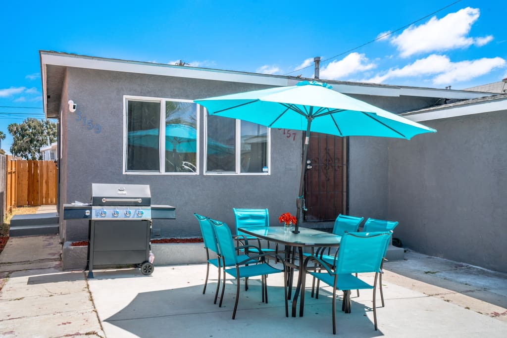 Front Yard with patio set