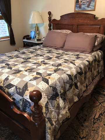 Master bedroom. Main floor.  Queen bed.
