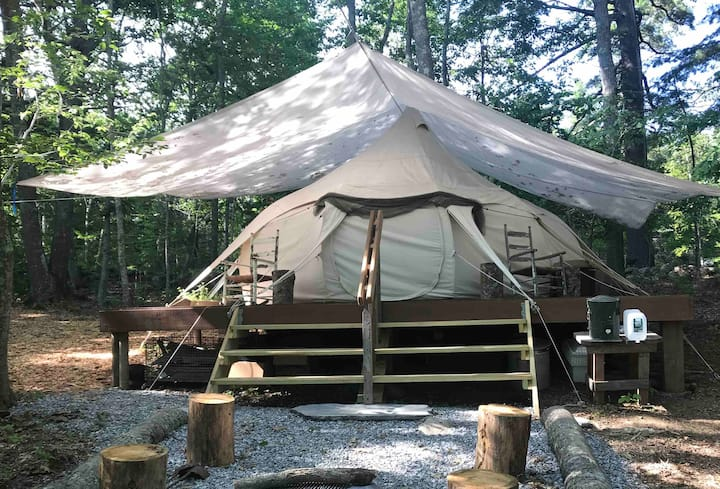 Thistledown Farm 's Penny's Perch - a private yurt