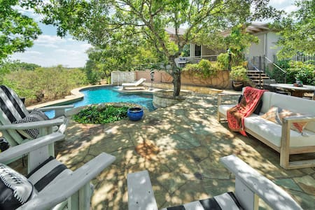Resort Feel w/ Private Pool + Hill Country Views