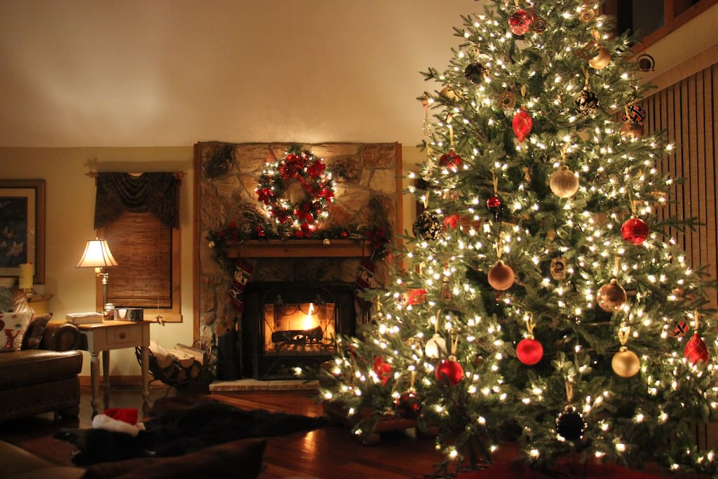 From the weekend before Thanksgiving through the Epiphany, the Great Room is decorated with a beautiful ten foot Christmas Tree!