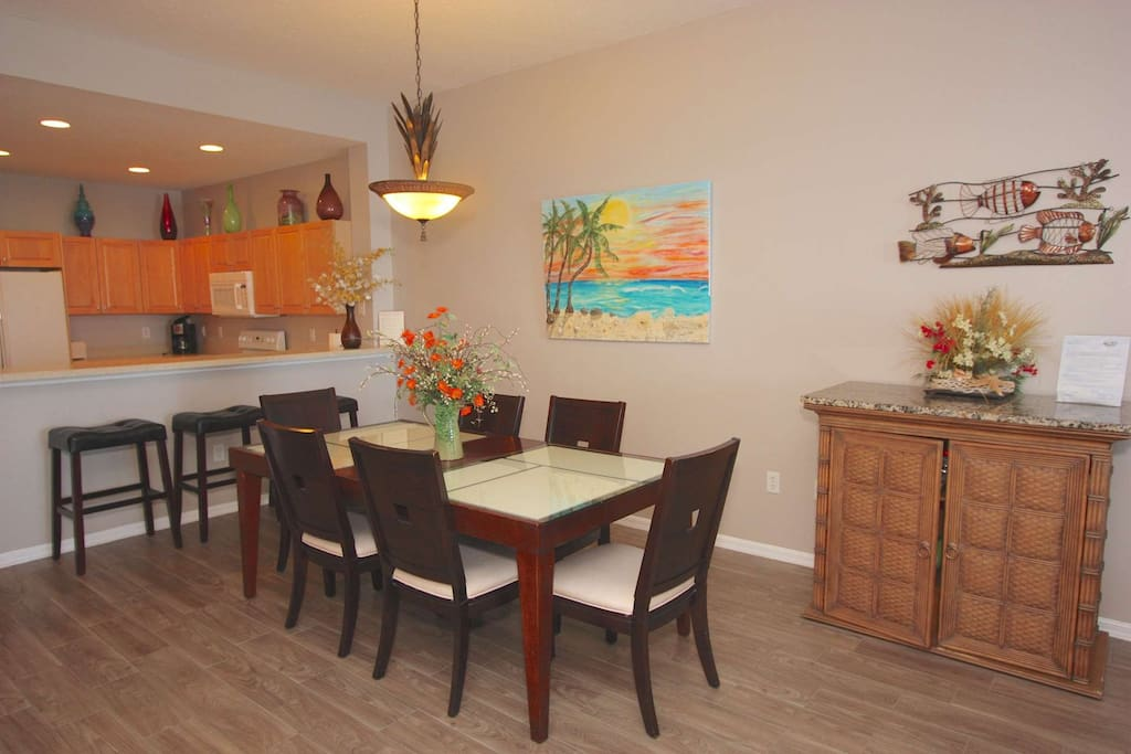 Enjoy a Family Meal  or Entertain in this Spectacular Dining Area with Seating for 6