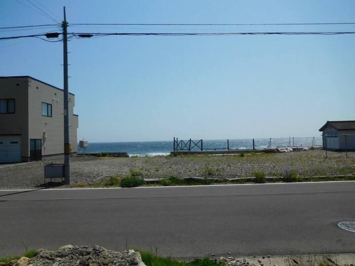 プライベートビーチ 空港20分 大型犬可 キャンピングカー駐車可能 一軒家貸切5名 光wifi