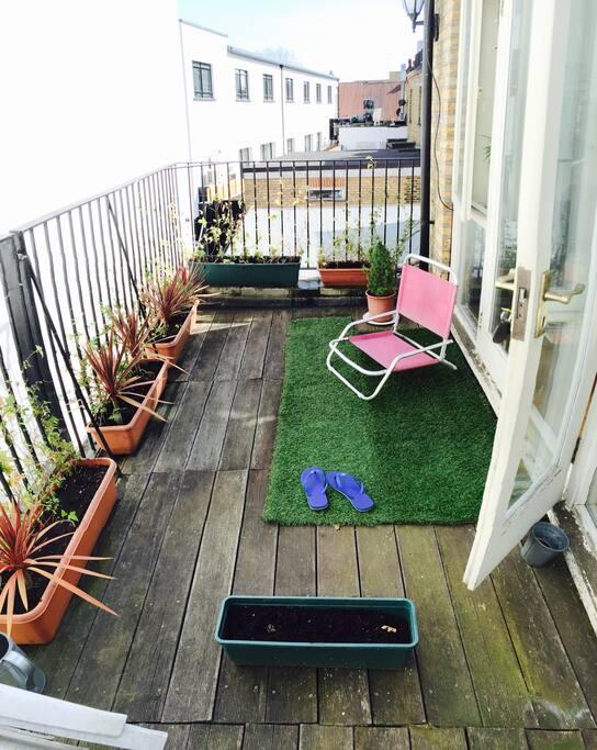 Little balcony garden