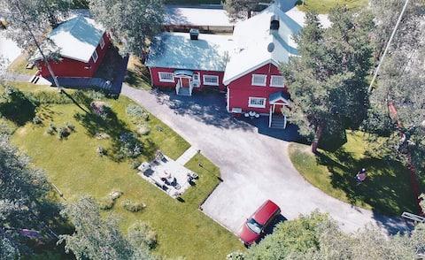 House in Porjus, Swedish Lapland