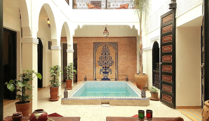 Cozy room in the Riad with pool