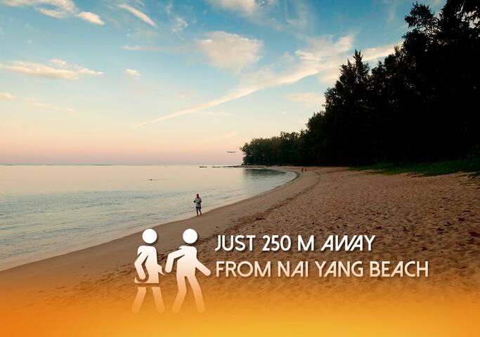 New 1BDR for your stay in 250m from Nai Yang beach