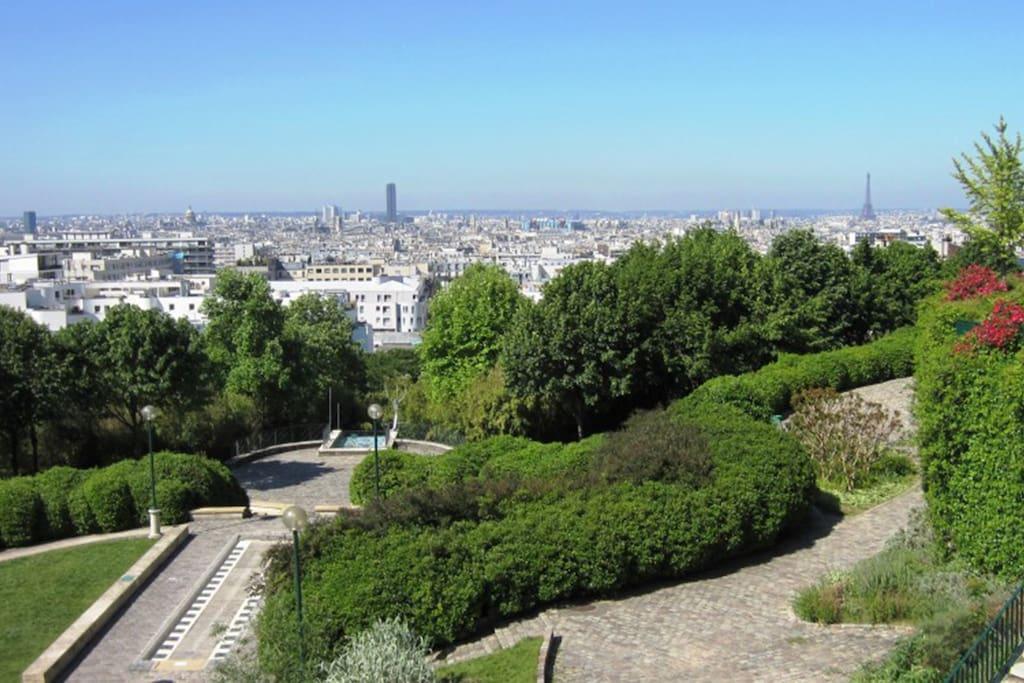 Vue de Paris du Parc de Belleville