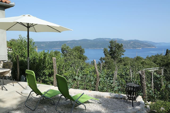 Apartment Tinka with terrace and sea view Brsec