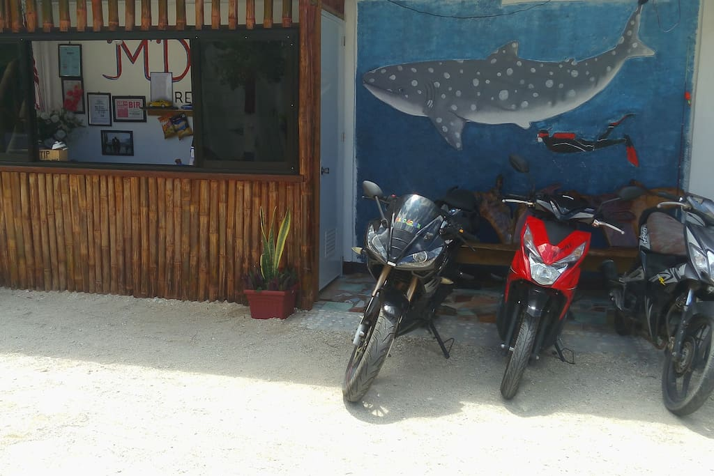 scooters and motorcycles for rent in mdf beach resort